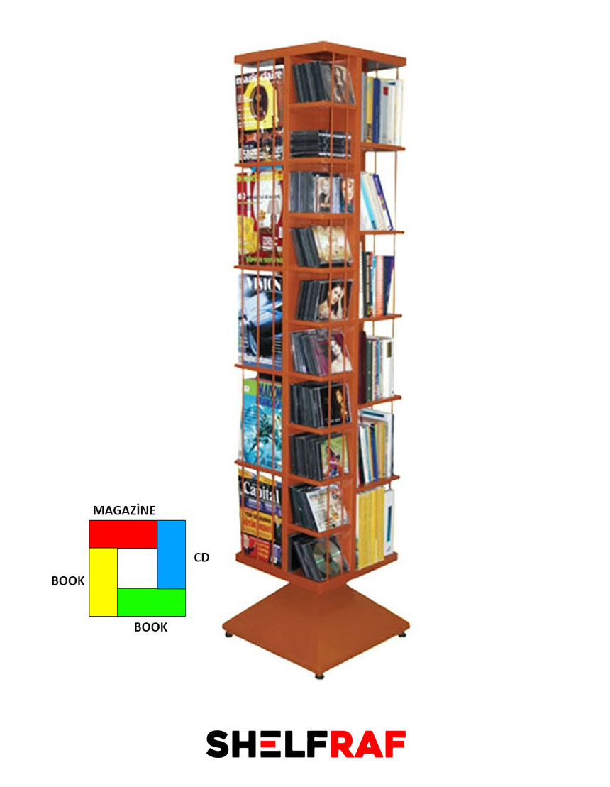 Rotating Cd Rack 17 Shelf Raf