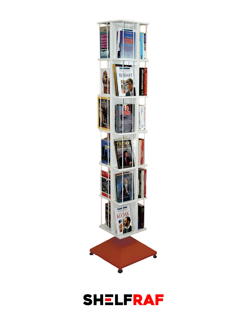 Rotating Bookshelf 22 Shelf Raf