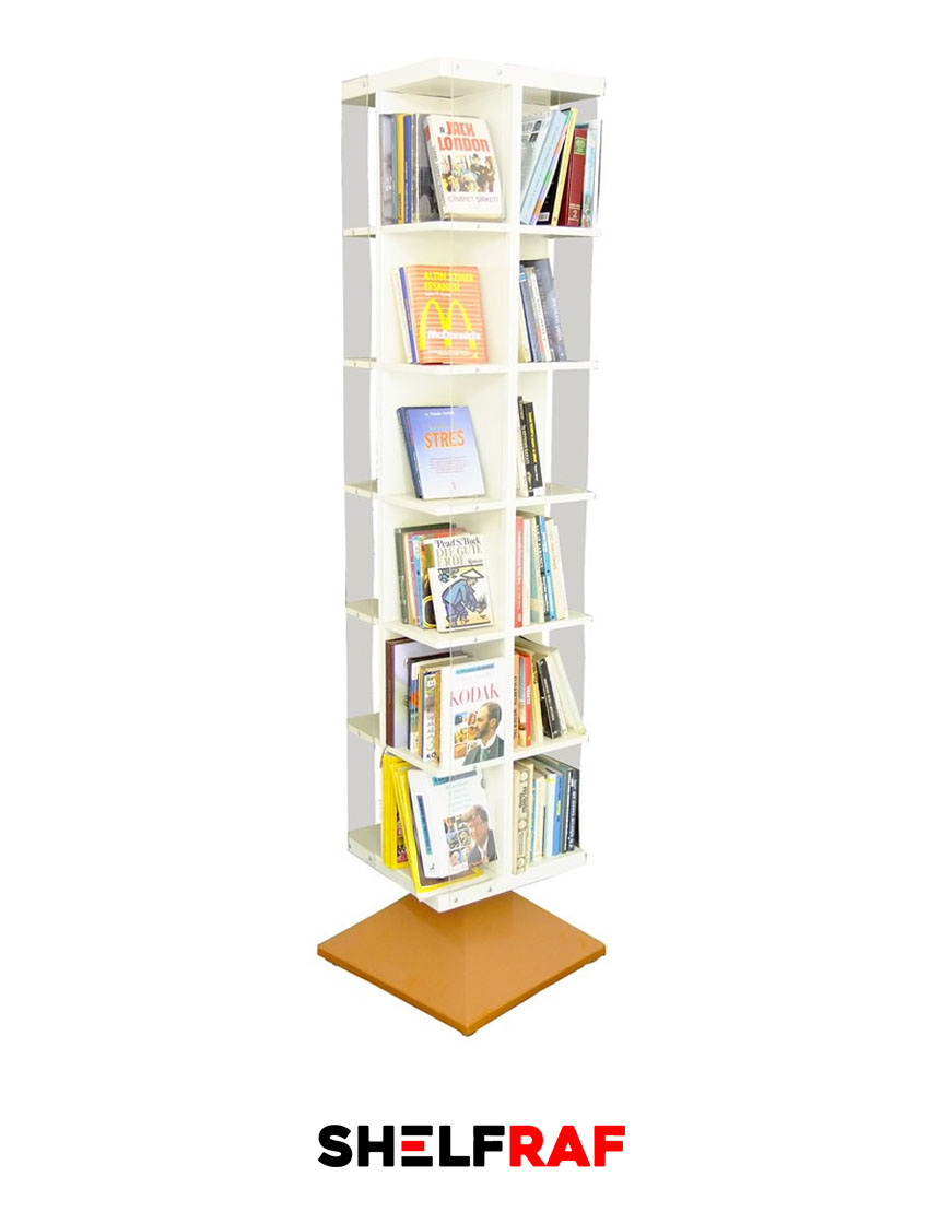 Rotating Bookshelf 61 (Plastic Glass Edged) – Shelf Raf